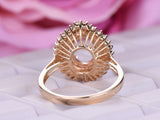 Reserved for AAA - Blank Mount 14K Rose Gold Oval 7x9mm