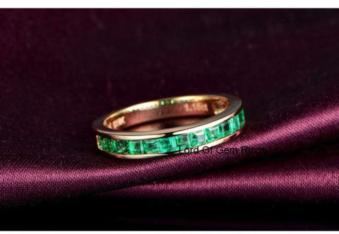 ring white bands anniverary stone wedding band diamond gold anniversary rings five emerald
