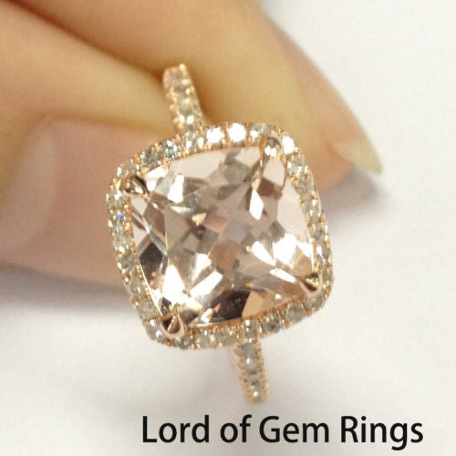 Reserved for lai-harl (1730tim) Custom Diamond Wedding Band 14K Rose Gold - Lord of Gem Rings - 1