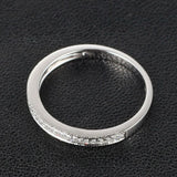 Ready to Ship - Pave Diamond Wedding Band Half Eternity Anniversary Ring 14K White Gold - Milgrain - Lord of Gem Rings - 4
