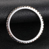 Pave Black Diamond Wedding Band Eternity Anniversary Ring 14K White Gold - Lord of Gem Rings - 2