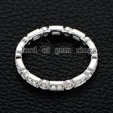 Reserved for evgenyvatev Pave Diamond Wedding Band Eternity Ring 18K White Gold - Lord of Gem Rings - 4