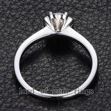 Reserved for jpix52 Round Moissanite Engagement Ring 1.5mm Moissanite Halo - Lord of Gem Rings - 6