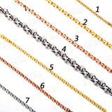 18K White/Yellow/Rose Gold Necklace for women ladies 45cm length - Lord of Gem Rings - 1