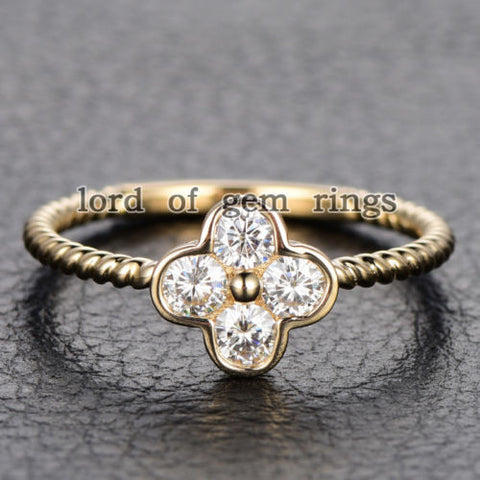 gold leaf ring clover white crystal rings swarovski jewelleryshow cubic four