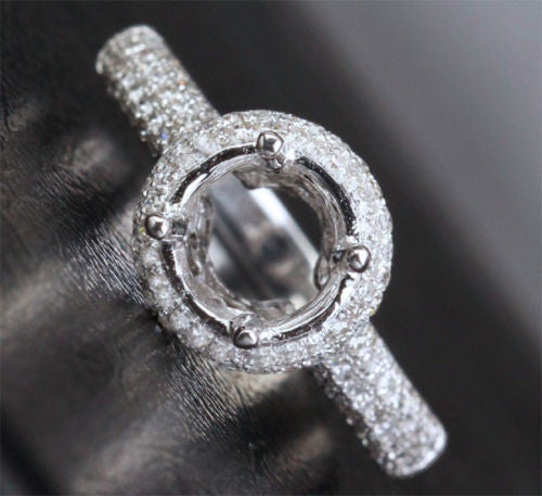 Reserved for cmwsmw, Custom made Semi Mount for 0.7ct Round Diamond - Lord of Gem Rings - 1