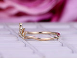 Reserved for Anna Moissanite Wedding Ring 14K Rose Gold