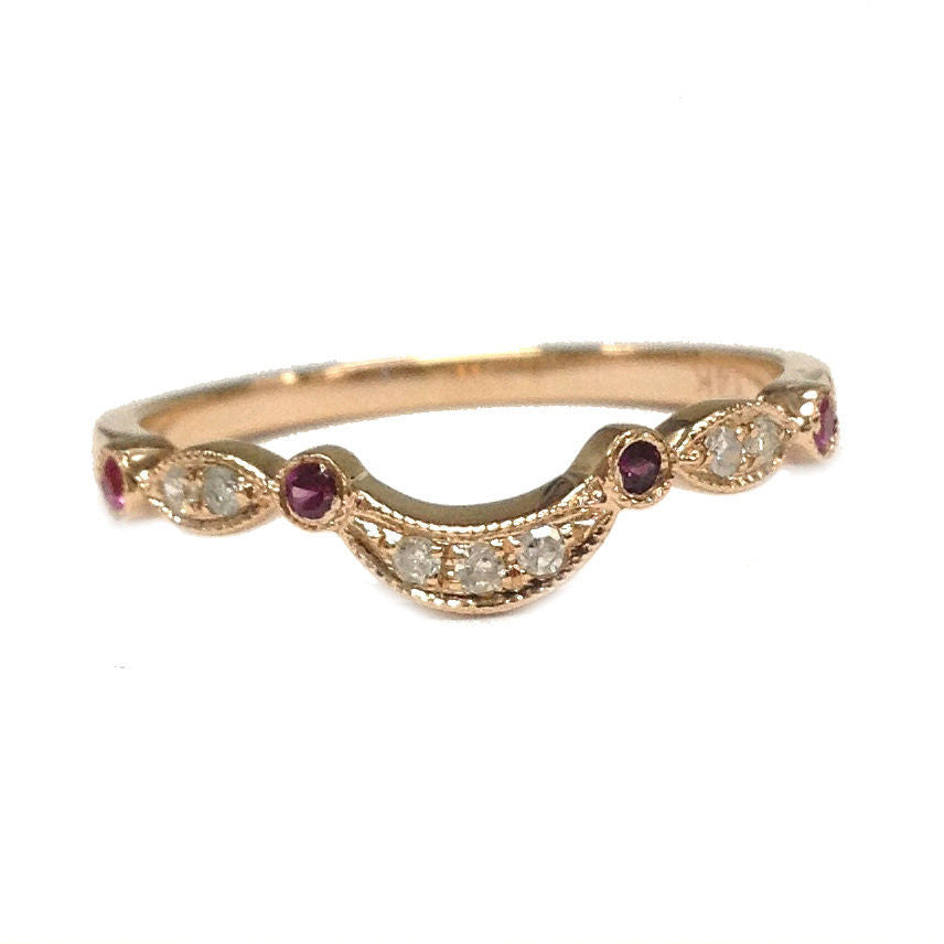 criss shape pear anniversary rings ring bands ruby diamond band cross
