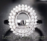 Reserved for donid46, Custom Semi Mount Ring for Oval - Lord of Gem Rings - 1