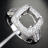 Reserved for shaifi, Custom Diamonds Engagement Semi Mount Ring - Lord of Gem Rings - 1