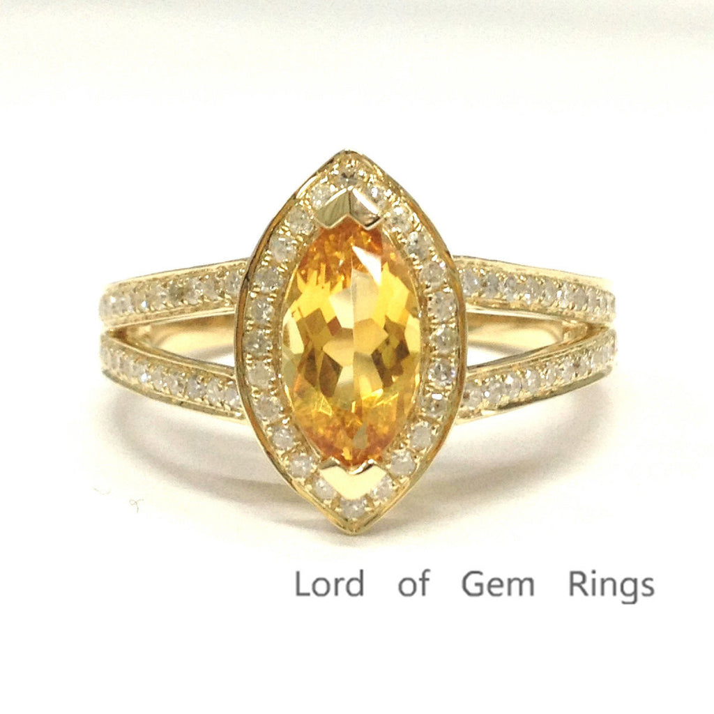 yellow diamond wedding ring 799 marquise citrine engagement ring pave wedding 1515