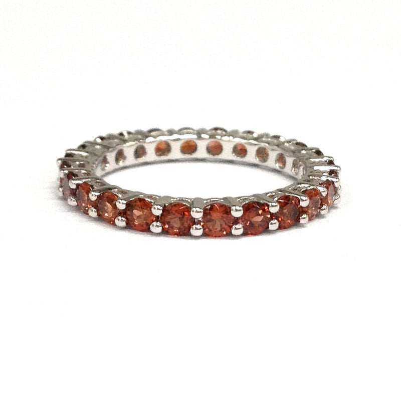 Garnet Ring Bands: $399 Garnet Wedding Band Eternity Anniversary Ring 14K