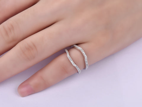 Diamond Ring Guard 14K White Gold