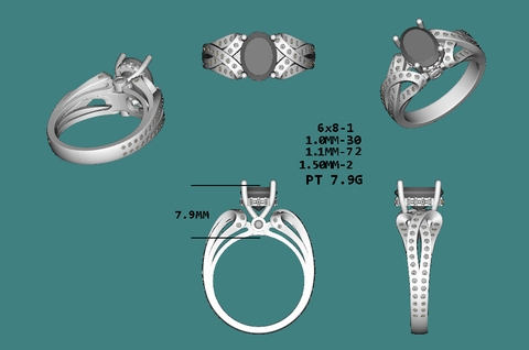 Reserved for Tiffany B- Custom Platinum Matching Diamond Ring Guards for Engagement Ring