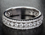 Brilliant diamond wedding band Eternity Anniversary ring 14k white gold -1.10ct SI/H - Lord of Gem Rings - 2