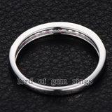Pave Ruby/Sapphire Wedding Band Half Eternity Anniversary Ring 14K White Gold - Lord of Gem Rings - 2