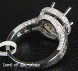 Reserved for pozzik,Custom Made Semi Mount & Matching Band, 8mm Round - Lord of Gem Rings - 2