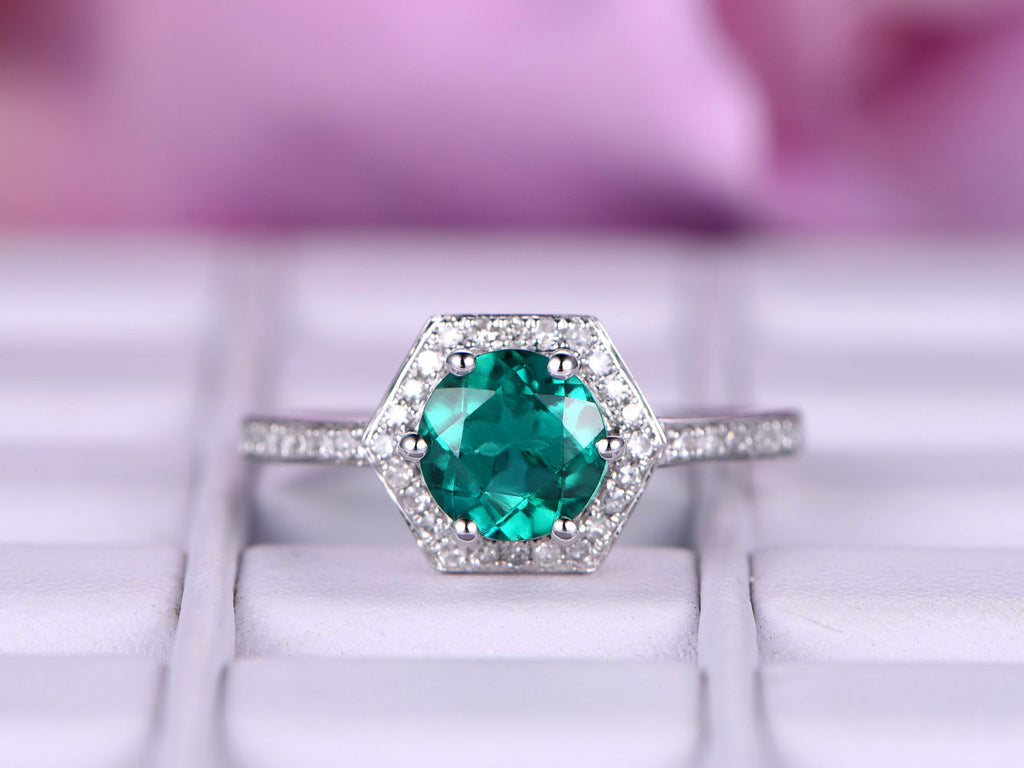 emerald catbird gemstone engagement ring lexi lexie rings