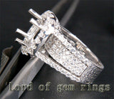 HEAVY! 9x11mm Oval Cut 14K White Gold 3.03CT Diamonds Engagement Semi Mount Ring - Lord of Gem Rings - 3