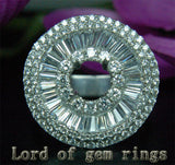 VS/G Diamond Engagement Semi Mount Ring 14K White Gold Setting Round 6.5mm 5.29CT HEAVY 12.28g - Lord of Gem Rings - 3