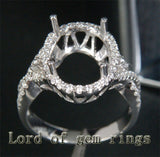 Reserved for  gloriagambale978,Cusot made semi mountt for 11.6 X 8.44 mm oval - Lord of Gem Rings - 3