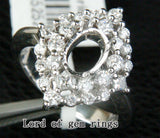 HEAVY 5x7mm Oval Cut .81ct Diamonds Solid 14K White Gold Wedding Semi Mount Ring - Lord of Gem Rings - 3