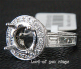 VS Diamond Engagement Semi Mount Ring 14K White Gold Setting Round 8-9mm - Lord of Gem Rings - 3