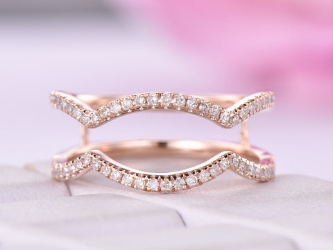 Diamond Infinite Love Ring Guard 14K Rose Gold