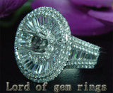 VS/G Diamond Engagement Semi Mount Ring 14K White Gold Setting Round 6.5mm 5.29CT HEAVY 12.28g - Lord of Gem Rings - 4