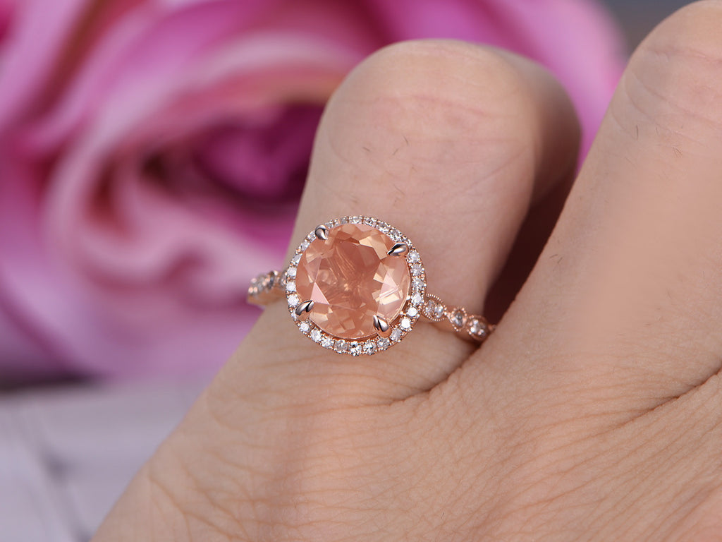oregon stone and rose classic set sun halo box romani wedding sunstone promise jewelers love cushion rings diamond oval engagement gold rosados