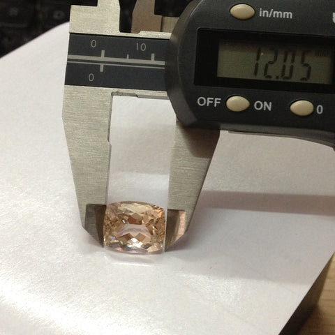 Reserved for John champagne Cushion  Morganite stone  10x12mm
