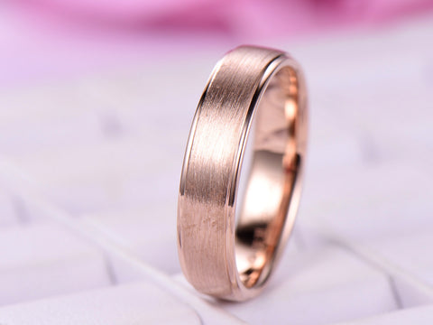Reserved for Andile 2nd payment, Custom Men's Wedding Ring 14K Rose Gold
