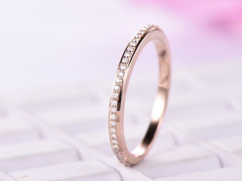 Reserved for Jy- 3/4 Eternity Matching Band in  14K Rose Gold