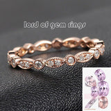 Pave Diamond Wedding Band Eternity Anniversary Ring 14K Rose Gold - SI/H Art Deco Antique Milgrain - Lord of Gem Rings - 1