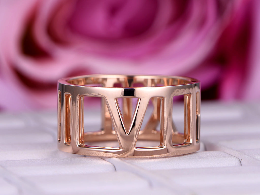$699 Wedding Band Eternity Anniversary Ring 18K Rose Gold – Lord of ...