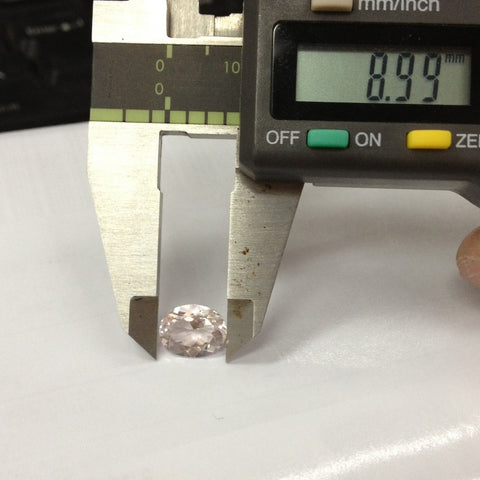 Reserved for Searle, oval pink Morganite loose stone