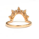 Crown Tiara Wedding Band Anniversary Ring 14K Rose
