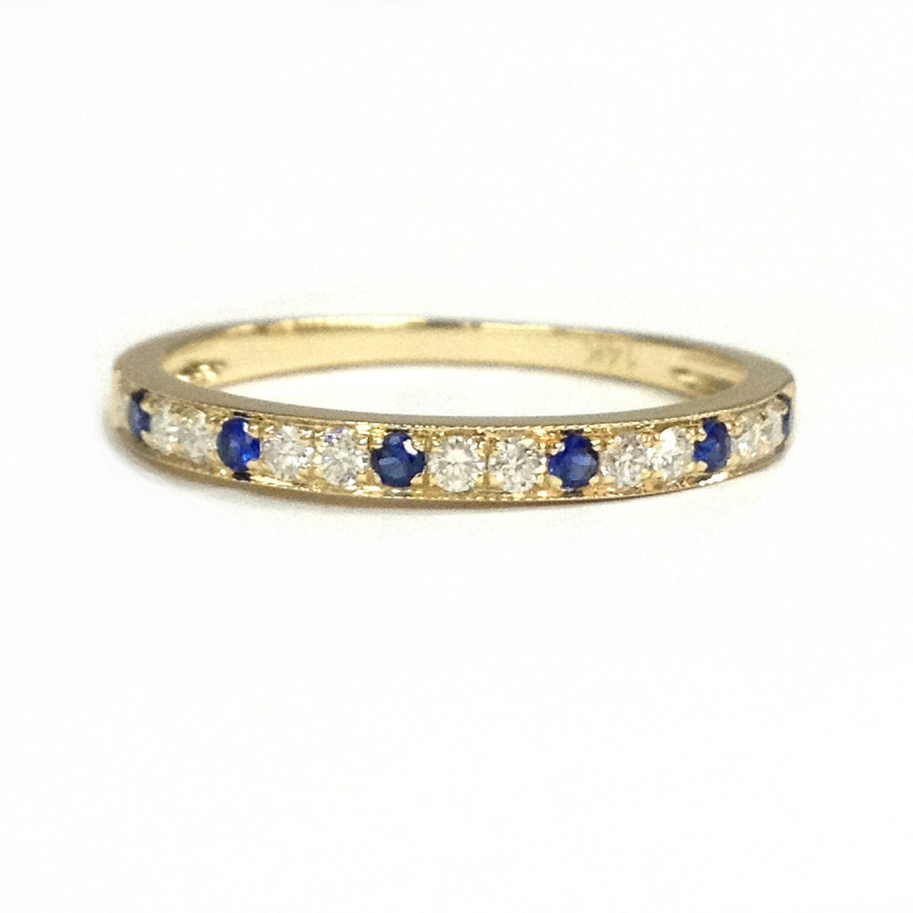 moissanite and engagement watch ring brilliant accents with forever sapphire blue milgrain