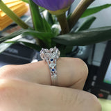 Reserved for Jennifer Custom Diamond Semi Mount Ring for Pearl 14K White Gold