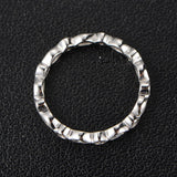 Marquise/Round Diamond Wedding Band Eternity Anniversary Ring 14K White Gold Bezel - Lord of Gem Rings - 4