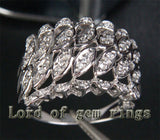 Unique .32ct Diamonds Engagement Ring in 14K White Gold, 4.52g! - Lord of Gem Rings - 2