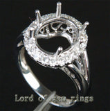 Reserved for masherita,Custom Made Engagement RIng Semi Mount for Oval stone - Lord of Gem Rings - 3