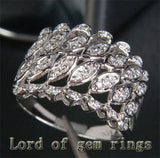 Unique .32ct Diamonds Engagement Ring in 14K White Gold, 4.52g! - Lord of Gem Rings - 4