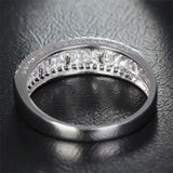 Baguette/Round DIAMOND WEDDING BAND ENGAGEMENT RING 14K WHITE GOLD 1.37ct - Lord of Gem Rings - 7