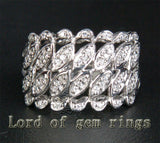 Unique .32ct Diamonds Engagement Ring in 14K White Gold, 4.52g! - Lord of Gem Rings - 1
