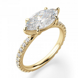 Reserved for Kennya Marquise Morganite Engament Ring 10k Yellow Gold