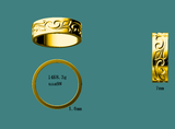 Reserved for Bella Custom Floral Matching Bands for  Emerald Ring 14k Yellow Gold