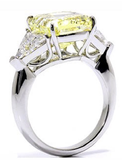 Reserved for Sandy  Emerald cut Citrine & White Topaz Ring14K White Gold