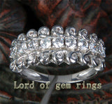 Unique Natural .72CT Diamonds 14K White Gold Wedding Band Engagement Ring 4.4g! - Lord of Gem Rings - 3