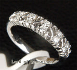 Diamond Wedding Band Half Eternity Anniversary Ring 14K White Gold - Lord of Gem Rings - 2